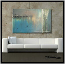 ABSTRACT PAINTING CANVAS WALL ART 48in Large, Signed,US ELOISExxx