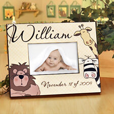 Personalized Jungle Animal Photo Frame ~ Your Baby's Name & Birthday