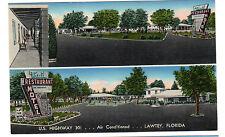1950's postcard. Trail Motel and Restaurant, Lawtey, Florida.