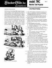 Stocker & Yale Model 7MC Projector Instruction Manual