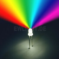 10 LEDs 5mm RGB 2 Pin Farbwechsel automatisch langsam LED REGENBOGEN + Zubehör