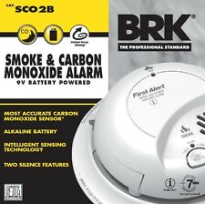 First Alert BRK Smoke And Carbon Monoxide Alarm Battery Powered SCO2B Top Brand!