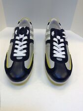 Hugo Boss Open Blue Silver Silvans Lace Up Sneakers US 11 EU 44 $150 NIB
