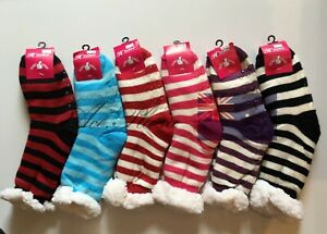3 Pairs Size 6-10 Women Thick Soft Winter Non-slip Fluffy Bed Socks Slippers New