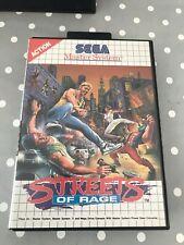 Streets of Rage Sega Master System komplett