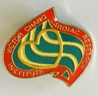 Victor Chang Cardiac Research Institute Hospital Pin Badge Rare Vintage (E12)
