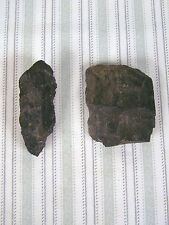 """Carved Stone Indian Weapons 2 Pieces 3.25"""" and 3.5"""" Black Tomahawk"""