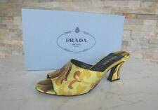 PRADA Gr 37 Pantoletten Sandaletten Sandalen Schuhe Lime Limone NEU UVP 430€