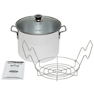 Harvest VKP1130  Stainless steel Multi-Use Canner With Stainless Steel Rack
