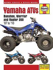 1987-2010 Yamaha Banshee Warrior Raptor 350 ATV Quad HAYNES REPAIR MANUAL 2314