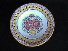 Modra Ceramic Art Pottery Floral Display Plate/Bowl Pierced Slovakia
