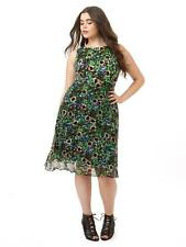 TAYLOR Woman Fit & Flare Empire Waist Dress In Garden Floral 14W 1X