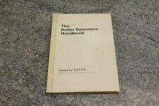 Boiler operators handbook issued by the NIFES