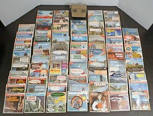 1960s VIEW-MASTER Viewer & 84 Reels w/ Expo67 National / Theme Parks Cities