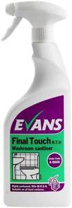 EVANS FINAL TOUCH RTU - High Perfumed Antibac Washroom Cleaner/Sanitiser 750ml