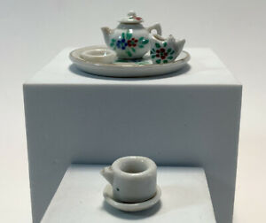 Vintage Miniature Tea Set Made In Germany 1930's Berry Design 6 Pieces