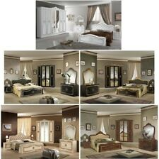 Sets NEU Schlafzimmer LUCIA+Lattenrost Klassik Barock 160/180x200cm 4-/6-türig