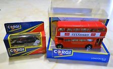 Corgi Double Decker Bus Diecast London Standard 91760 & London Taxi 90085 NEW!