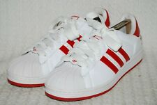 Adidas Superstar Mens Trainers Red & White UK Size 10  VGC