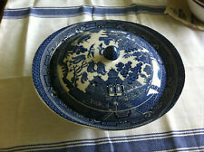 Blue Willow Johnson Brothers Covered Serving Dish 10""
