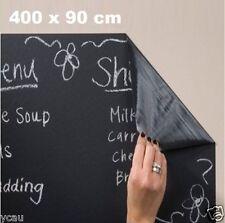 Large Soft New Stick On Blackboard Chalkboard Sticker 400 x 90cm Wall Decal DIY