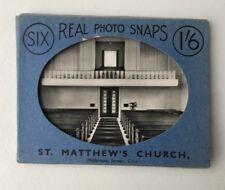 Vintage ST MATHEWS CHURCH JERSEY Souvenir Real Photo Set Black White