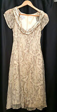George Gross Gold toned Silk Special Occasion Dress - Size 8
