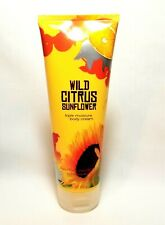 Bath & Body Works Wild Citrus Sunflower Triple Moisture Cream 8oz Discontinued
