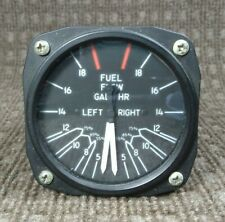 Piper Twin Fuel Pressure Gauge United Instruments P/N 6223