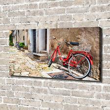Leinwandbild Kunst-Druck 140x70 Bilder Fahrzeuge Rotes Fahrrad