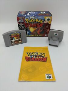 Pokemon Stadium (N64, 2000) With Manual & Box - Tested Authentic w/ Transfer Pak
