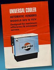 PEPSI COLA | UNIVERSAL COOLER ALTES WERBE PROSPEKT 1965   SELTENST   4 SEITEN !