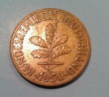 Germany 10 Pfennig coin F 1950