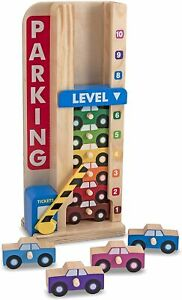 Melissa & Doug Stack & Count Parking Garage Wooden Classic Toy