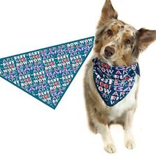 Bark Woof Ruff Arf Patter Dog Bandana - Med to Large Dogs -  46015