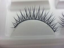 REUSABLE 10 Pairs Natural Long False Eyelashes Black Extensions Makeup Artist