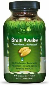 Irwin Naturals Brain Awake 60 Liquid Soft-Gels EXP 01/2021