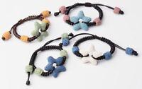 Star Multi Color Lava Bead Aromatherapy Diffuser Scent Bracelet Essential Oil