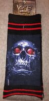 New KURB BRAND Mens Pair Of Novelty Crew  Black With COOL SKULL