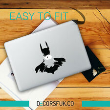 Batman sketch Macbook Stickers on black vinyl decal | Laptop Cover Art