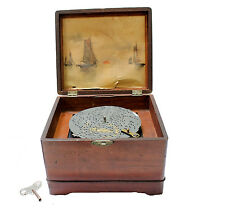 Antique Shutz German Polyphon Mini 8 Disks 6 1/2 inch Disk Music Box