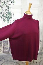 JAMES MEADE Burgundy purple Merino Wool jumper size XL
