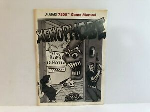 Xenophobe Atari 7800 MANUAL ONLY Authentic