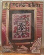 Feng Shui Prosperity chinese character yin yang cross xstitch x stitch kit