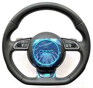 Audi S5 S Line Flat Bottom steering wheel A5 S4 A4 Q5 Q7 A6 A8 A3 S3 TT TTS RS