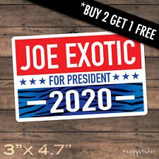Joe Exotic for President Sticker -  Tiger King Election 2020 Campaign Decal Car