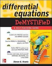 """VERY GOOD"" Krantz, Steven G., Differential Equations Demystified, Book"