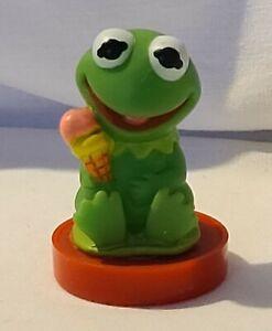 Vintage 1984 Kermit The Frog Soft PVC Action Figure  Stamp Muppet Babies Stamper