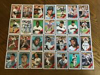 1988 SAN FRANCISCO GIANTS Topps COMPLETE MLB Team SET 28 Cards CLARK WILLIAMS RC