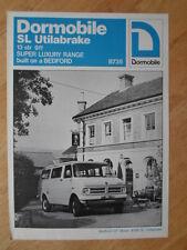 BEDFORD CF DORMOBILE SL UTILABRAKE orig 1976 Sales Leaflet Brochure